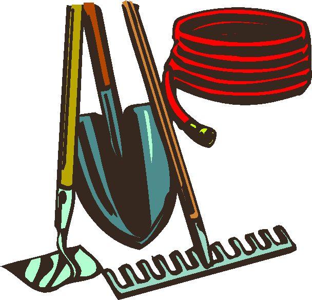 Yard tools clipart.