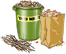 Curbside Yard Waste Collection begins April 1, 2016.