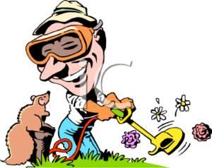 Showing post & media for Cartoon yard work clip art.