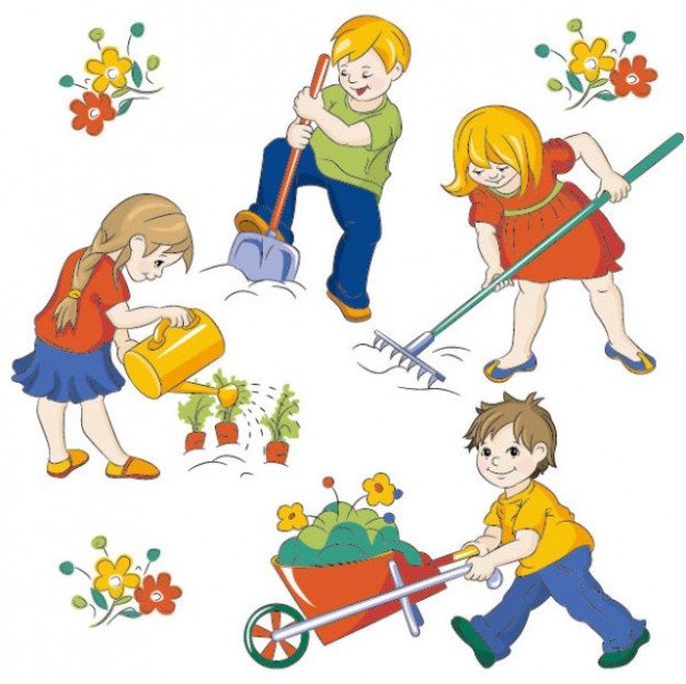 Yard work kid clipart images gallery for Free Download.