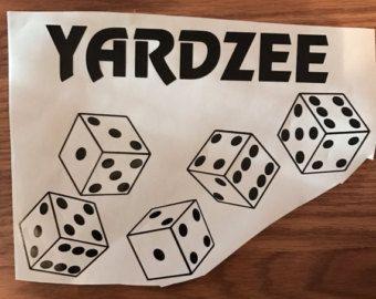 SALE PRINTABLE. Yardzee Score Card. Yardzee by.