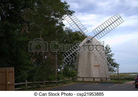 Pictures of Judah Baker Windmill, South Yarmouth, MA, USA, cape.