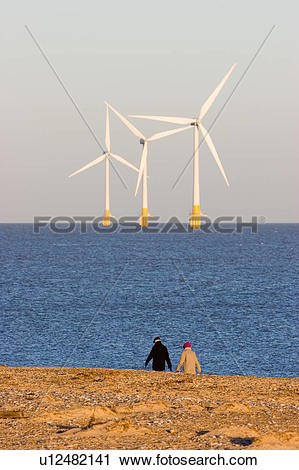 Stock Photography of England, Norfolk, Great Yarmouth , Offshore.