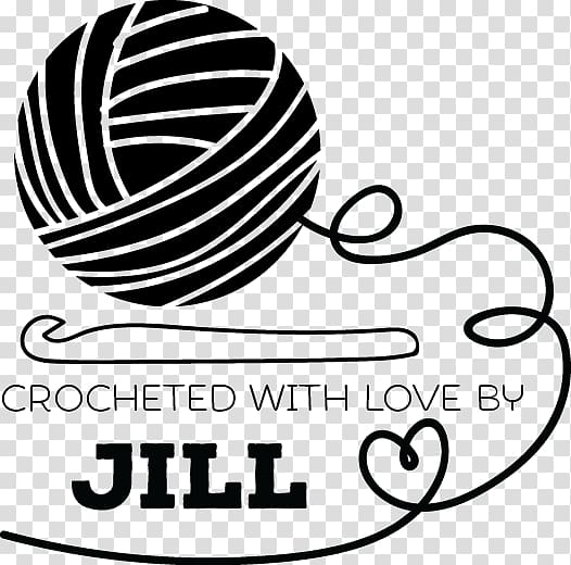 Crocheted with Love by Jill poster, Crochet hook Yarn.