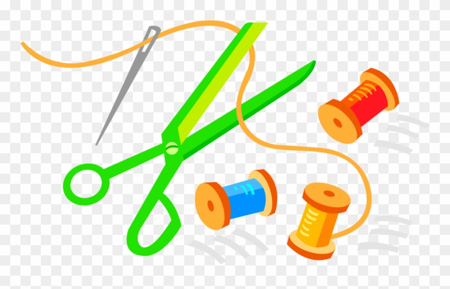 Yarn and scissors clipart Transparent pictures on F.