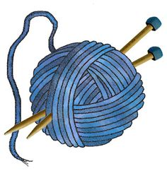 Free clipart knitting needles and yarn.