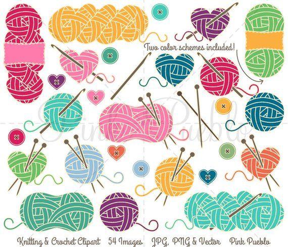 Knitting Clipart, Knitting Clip Art, Yarn Clipart, Yarn Clip.