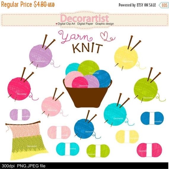 Knitting clip art , yarn clip art, Knitting basket with wool balls.