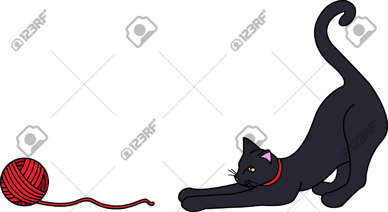 Kitties Can't Resist A Ball Of Yarn.