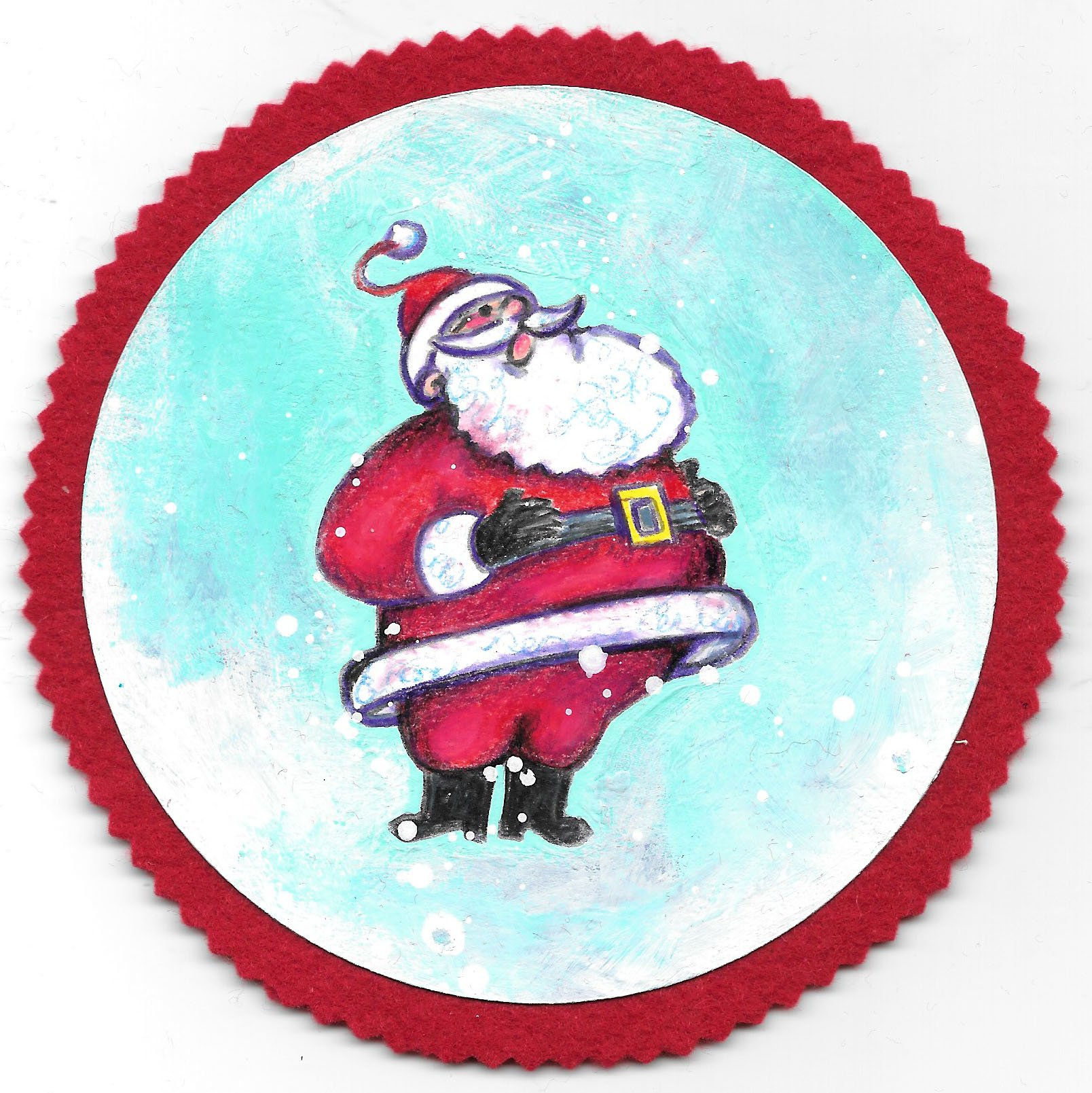 Santa Ornaments: A Step By Step Coloring Guide — Craft.