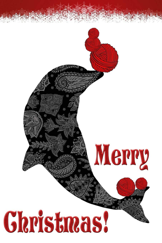 Merry Christmas: Dolphin Yarn Knitting & Crochet Writing.