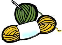 Crochet yarn clipart.
