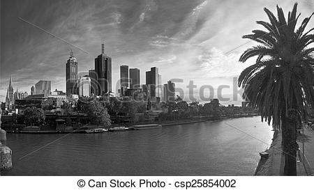 Stock Photography of yarra river on a sunny monring.