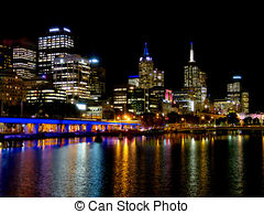 Stock Photo of Melbourne yarra city view csp15358620.