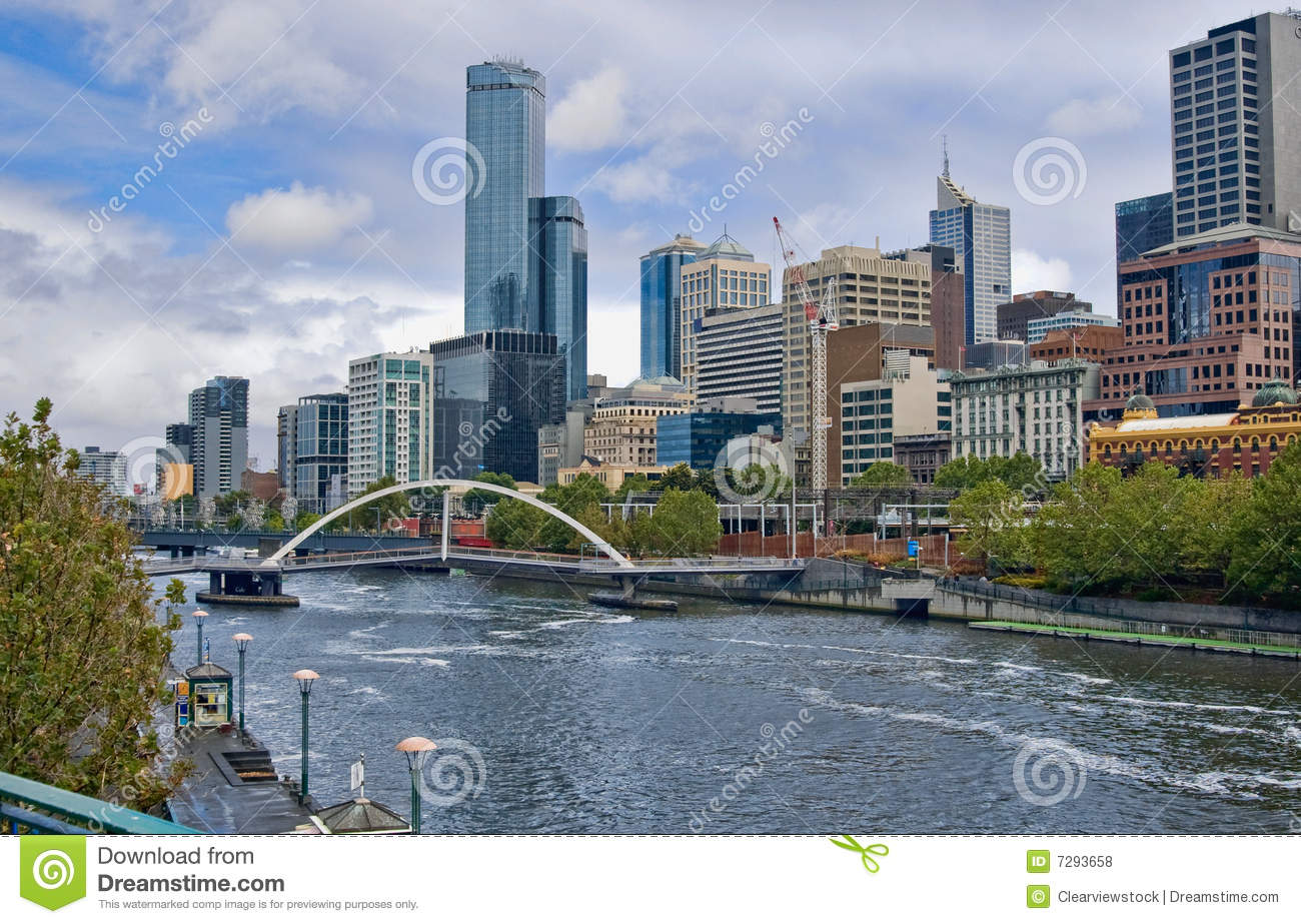 Yarra River In The City Of Melbourne Royalty Free Stock Photos.