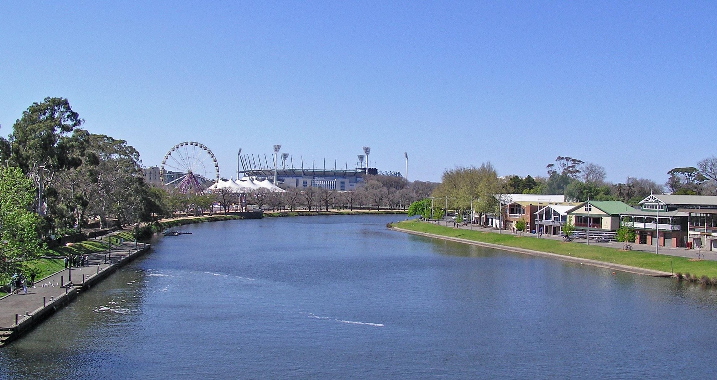 Yarra River in Melbourne, Victoria, Australia landscape.