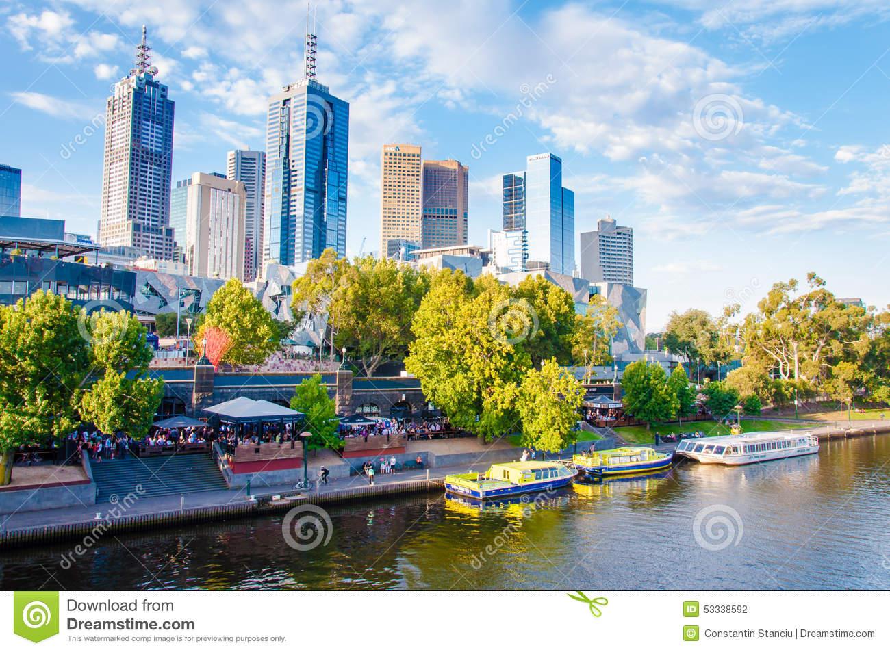 Princes Bridge Over Yarra River In Melbourne, Australia Editorial.