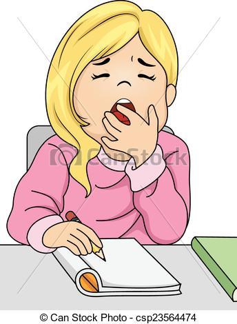 Girl yawn clipart.