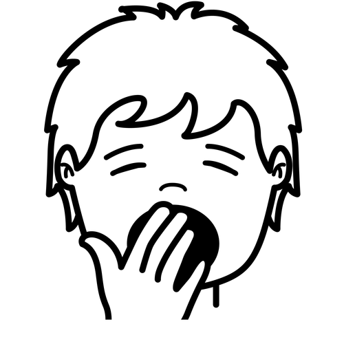 Clipart yawn free here.