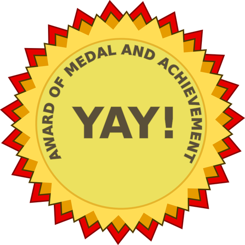 Award of achievement vector clip art.