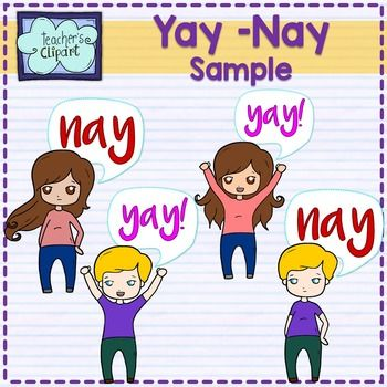 FREE Yay! or Nay Kids Clipart.