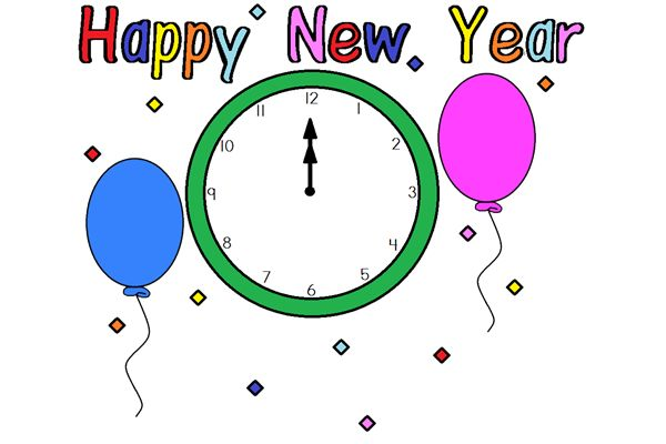 2014 New Year Clipart.