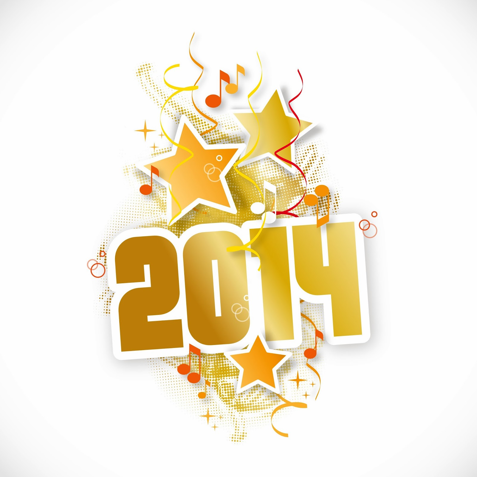 Happy New Year 2014 Clipart.