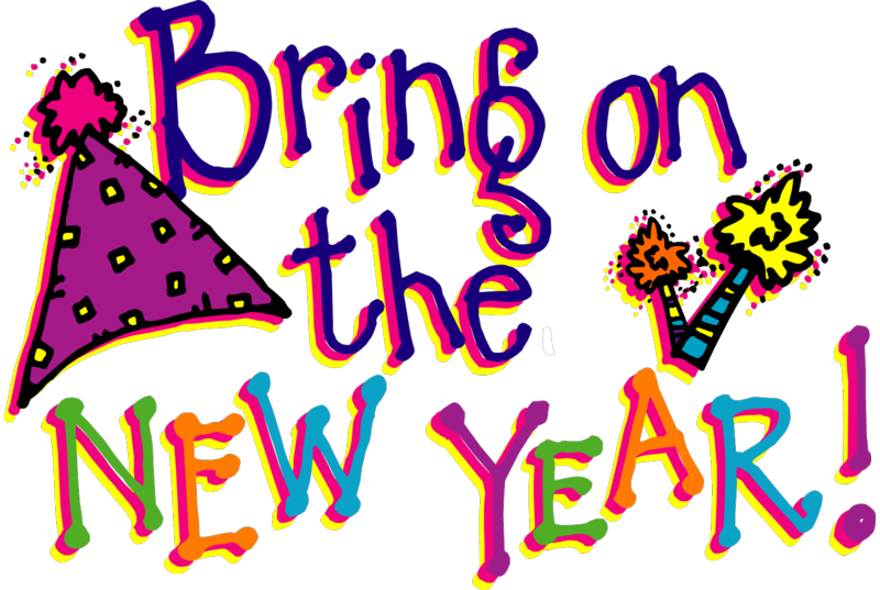 New year 7 clipart collection.