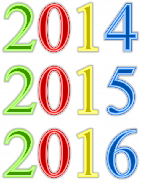 New Year Clip Art Free Stock Photo.