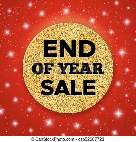 End of Year Sale vector promotion banner.