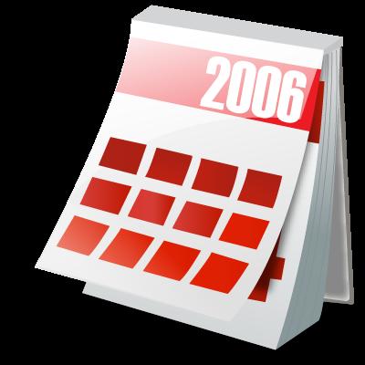Calendar, year icon.