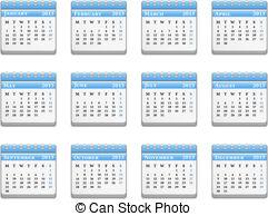 Year Calendar Clipart.