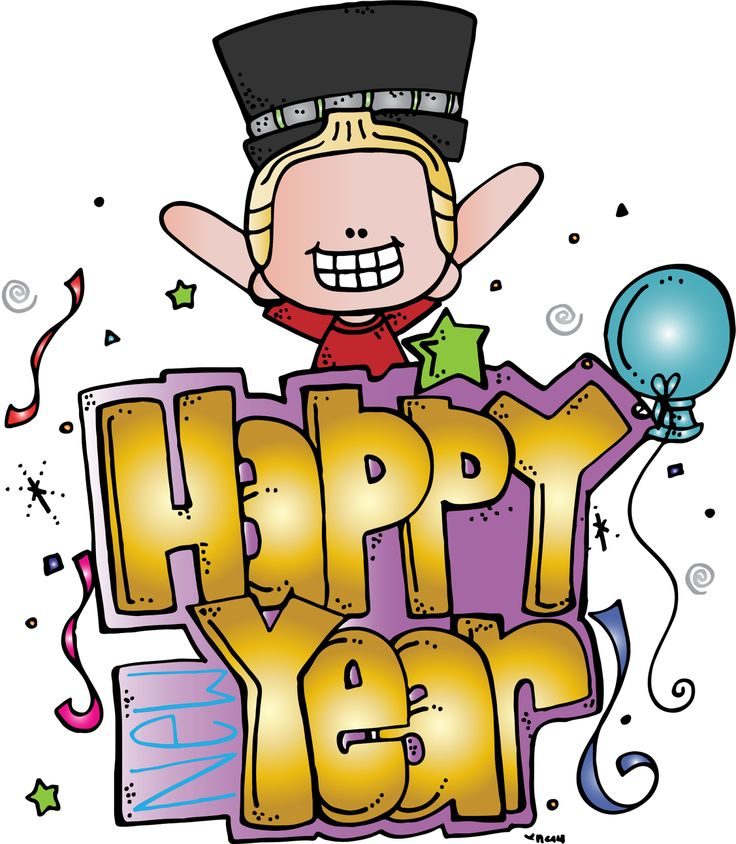 Happy new year clipart assets creative market.
