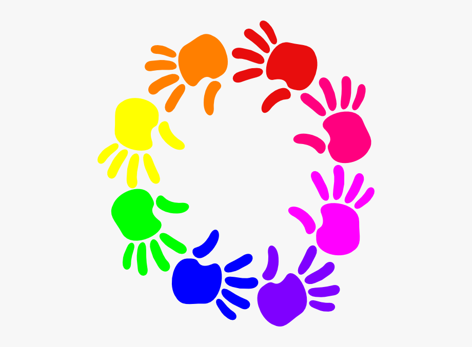 Colorful Circle Of Hands Svg Clip Arts 540 X 597 Px.