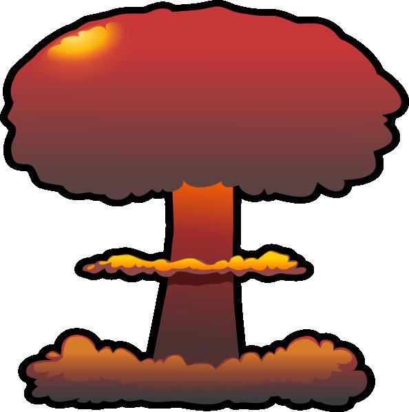 Nuclear explosion Clip art.