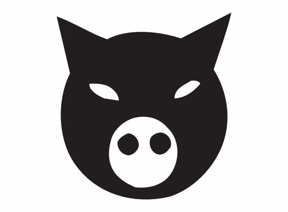 Black Pig Face Svg Clip Arts 558 X 597 Px.