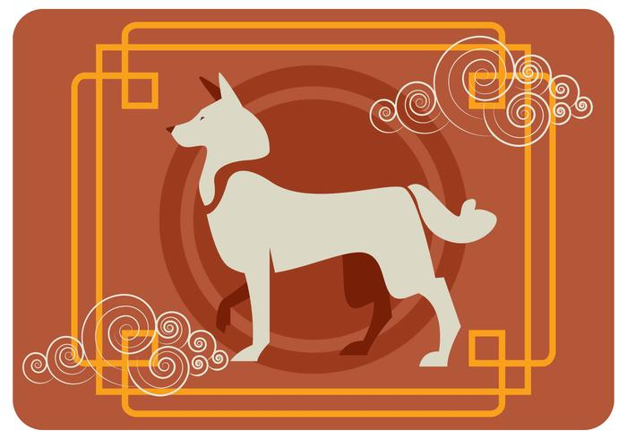 Chinese New Year of The Dog Vector.