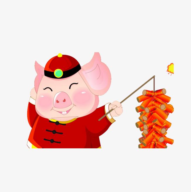 Lug Firecrackers Cartoon Pig, Cartoon Cl #143828.