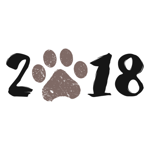 2018 dog year 2018 logo.