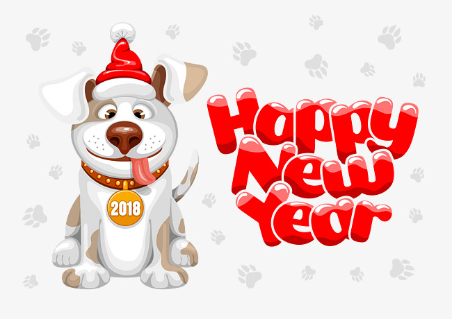 2018 Year, Lucky Dog, Cartoon Dog PNG and Vector for Free Download.