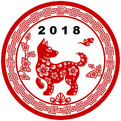 Craft for Chinese New Year: The Year of the Dog.