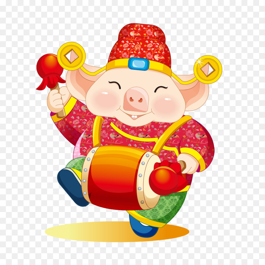 Chinese Pig New Year png download.
