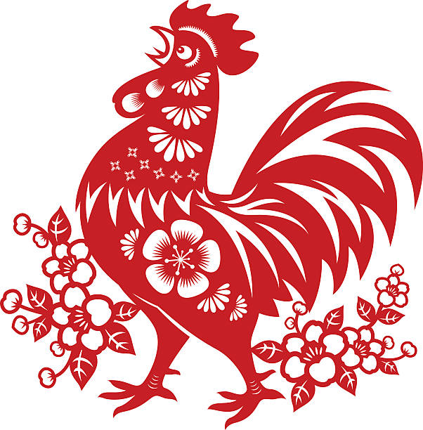 Best Year Of The Rooster Illustrations, Royalty.