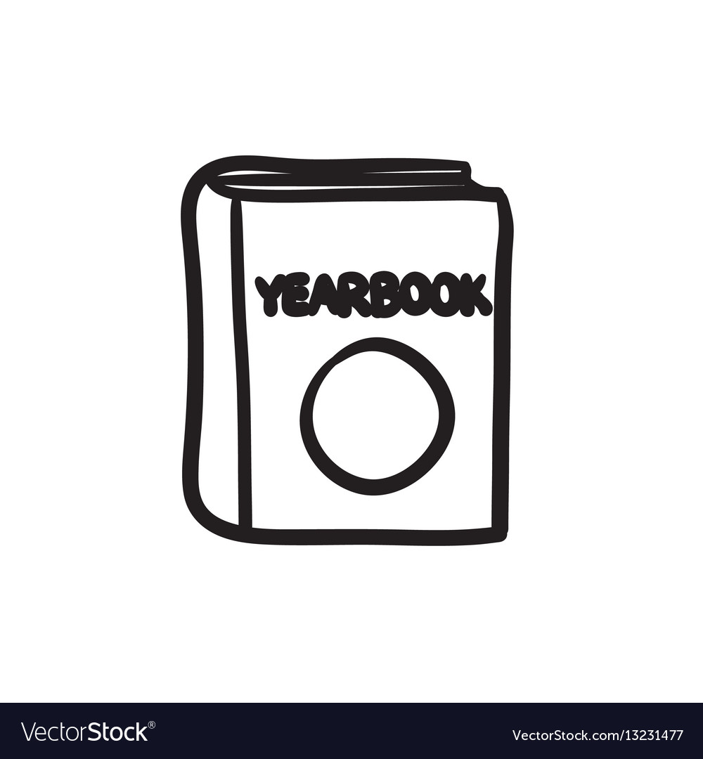 Yearbook sketch icon.