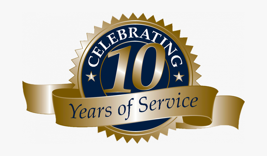 10 Year Anniversary , Free Transparent Clipart.