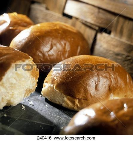 Stock Images of Yeast rolls 240416.