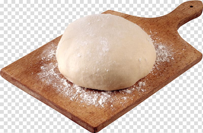 Dough on brown chopping board, Pizza Pirozhki Dough Stuffing.