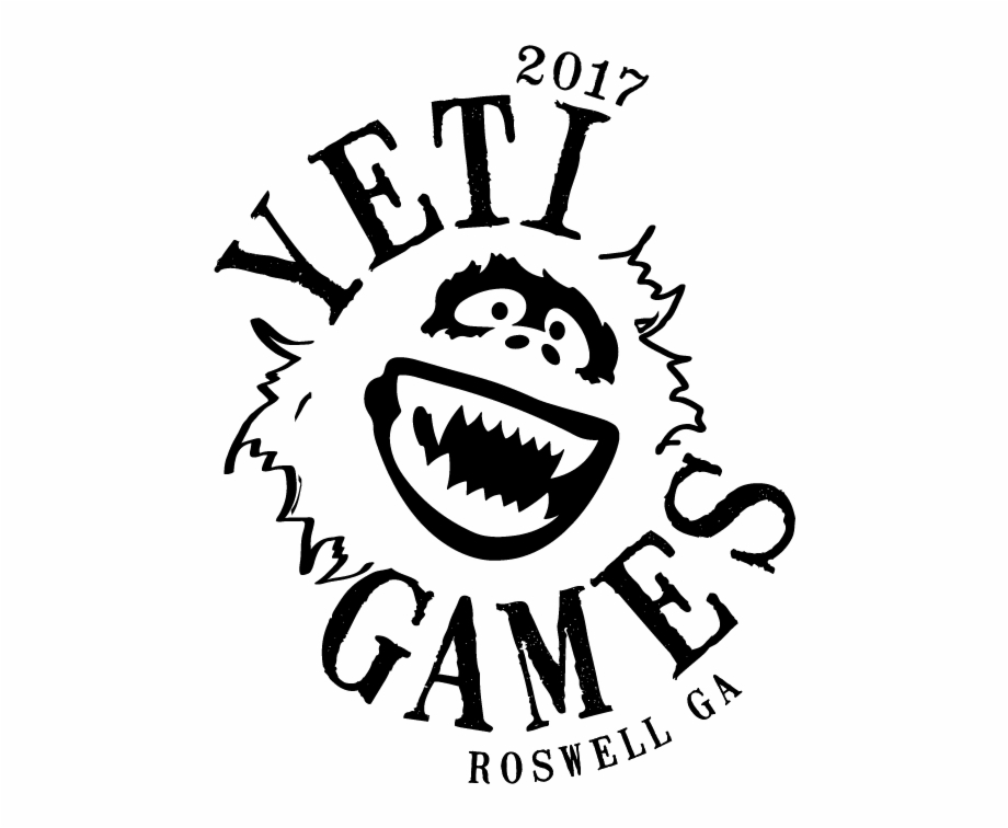 Yeti Games Logo Silhouette Of Abominable Snowman.