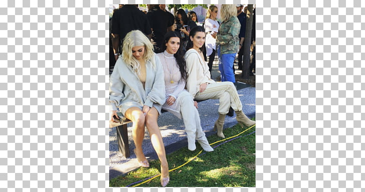 New York Fashion Week Kendall and Kylie Adidas Yeezy Model.