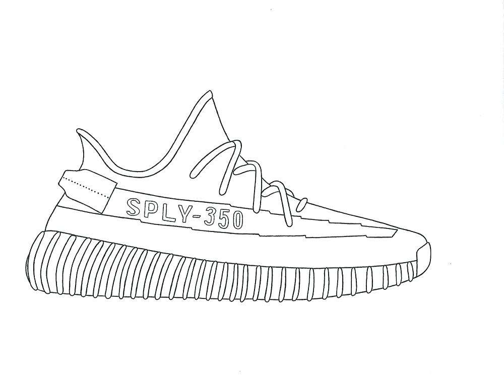 Yeezy Coloring Pages.